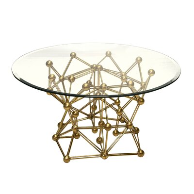 Molecule Iron Coffee Table Size: 18.5 H x 30 W x 30 D, Color: Gold