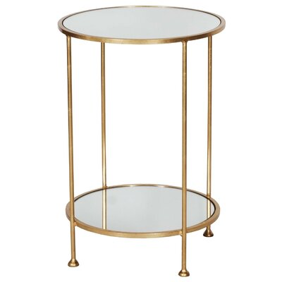 2 Tier End Table Finish: Gold Leaf