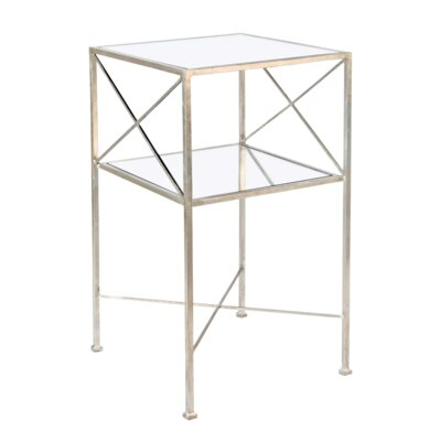 2 Tier End Table Finish: Silver