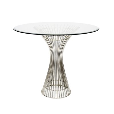 Iron End Table Size: 30 H x 36 W x 36 D