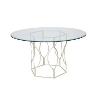 Hex Dining Table Finish: Silver Leaf, Size: 30 H x 48 W x 48 D