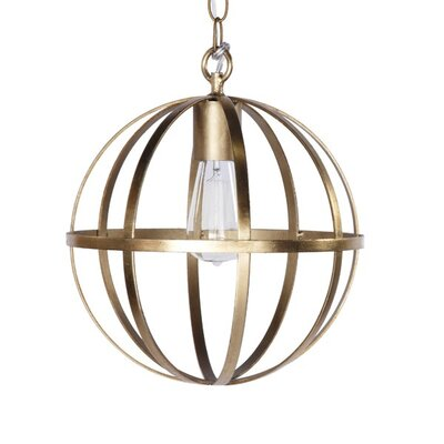 1-Light Globe Pendant Finish: Gold