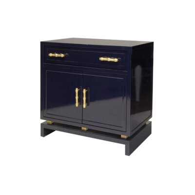 1 Drawer 2 Door Bachelors Chest Color: Navy Lacquer
