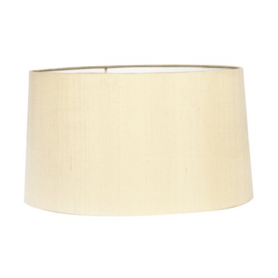 17 Silk Drum Lamp Shade Color: Butter