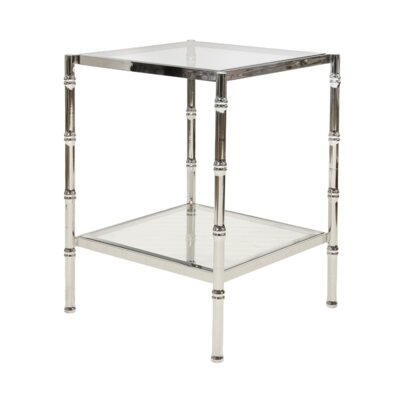 Bamboo End Table Color: Nickel Plated