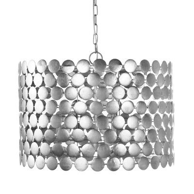 Dot 3-Light Drum Pendant Finish: Silver