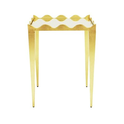 Wave Edge End Table Color: Gold
