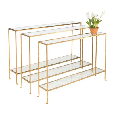 Console Table Finish: Gold Leaf