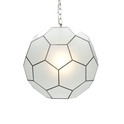Faceted Ball 1-Light Globe Pendant Size: 15 H x 15 W x 15 D
