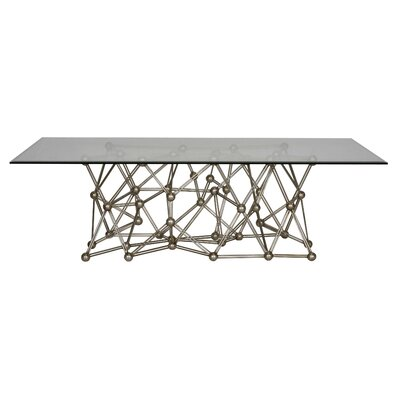 Iron Coffee Table Color: Silver