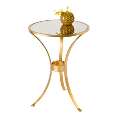 3 Leg End Table Color: Gold