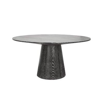 Dining Table Finish: Black Cerused Oak