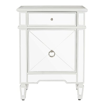 Mirrored Nightstand Finish: White Lacquer