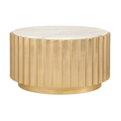 Scalloped Coffee Table Base Color: Gold Leaf
