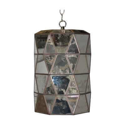 Faceted 1-Light Mini Pendant Finish: Antique Mirror