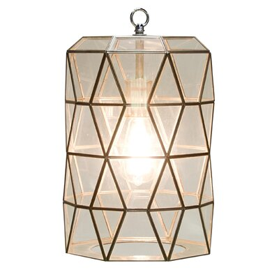 Faceted 1-Light Mini Pendant Finish: Clear