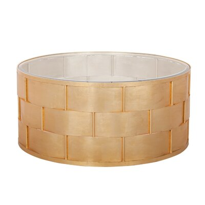 Basketweave Coffee Table Color: Gold