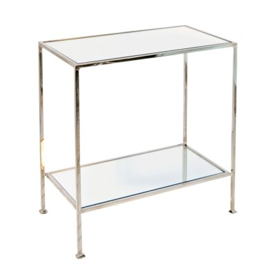 2 Tier Rectangular End Table Finish: Nickel Plated