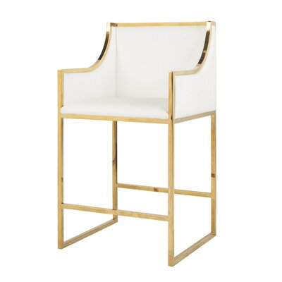 25.5 Bar Stool Finish: Brass