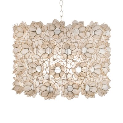 Floral Capiz 2-Light Drum Pendant
