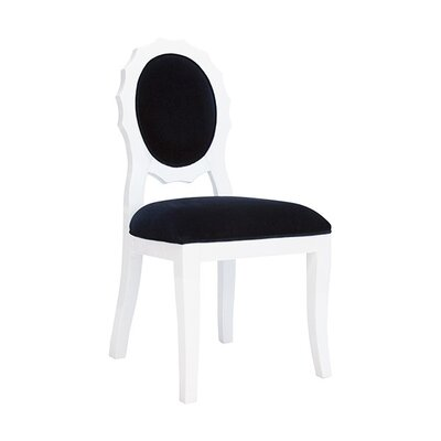 Scallop Side Chair Upholstery: Black Velvet