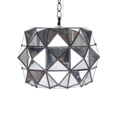 Faceted 1-Light Geometric Pendant