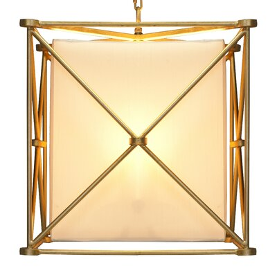 X 3-Light Foyer Pendant Finish: Gold Leaf