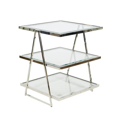 3 Tier End Table Color: Nickel Plated