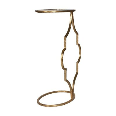 Hammered Oval Cigar C Table Color: Gold