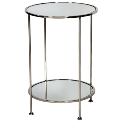 2 Tier End Table Finish: Nickel Plated