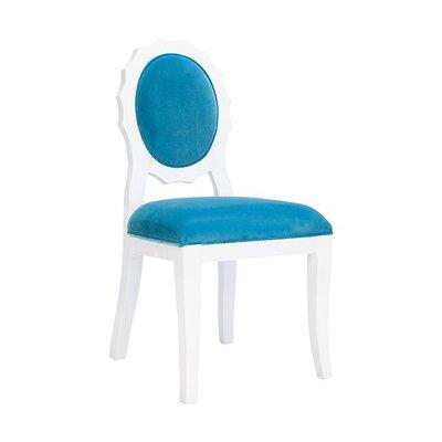 Scallop Side Chair Upholstery: Turquoise Velvet