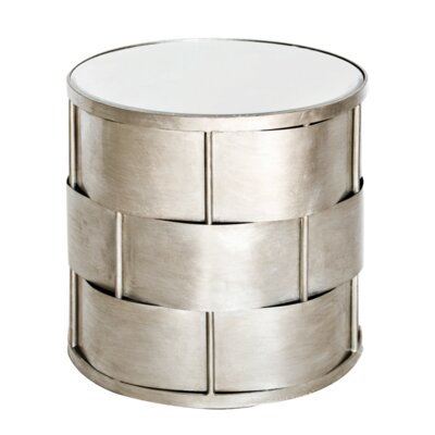 Basketweave End Table Color: Silver