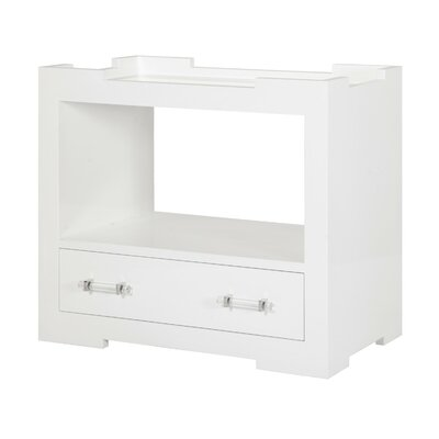 One Drawer Console Table Finish: White Lacquer