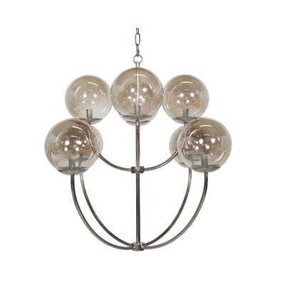 Two-Tier 8-Light Candle-Style Chandelier Finish: Nickel