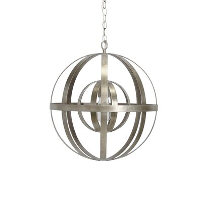 1-Light Globe Pendant Finish: Silver Leaf