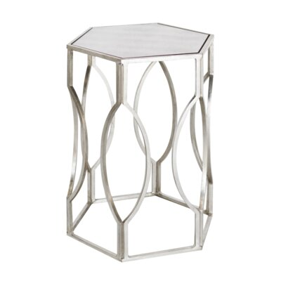 Hexagonal End Table Finish: Silver