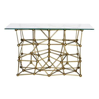 Iron Console Table Finish: Gold
