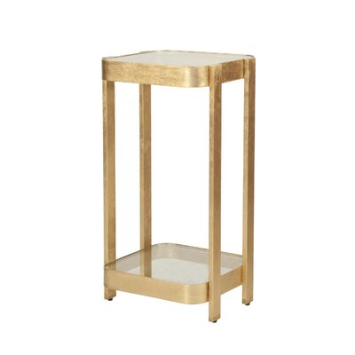 2 Tier End Table Color: Gold Leaf