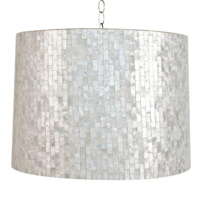 Capiz Shell 2-Light Drum Pendant