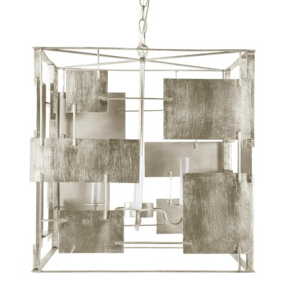 Square 3-Light Foyer Pendant Finish: Champagne Silver