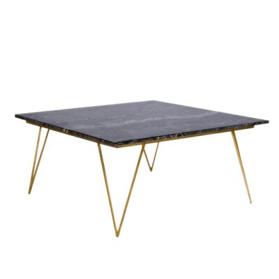 Coffee Table Base Color: Gold, Top Color: Black Marble