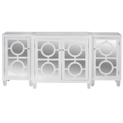3-Piece Buffet Table Color: White Lacquer