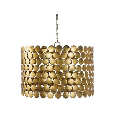 Dot 3-Light Drum Pendant Finish: Gold
