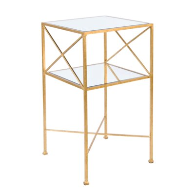 2 Tier End Table Color: Gold