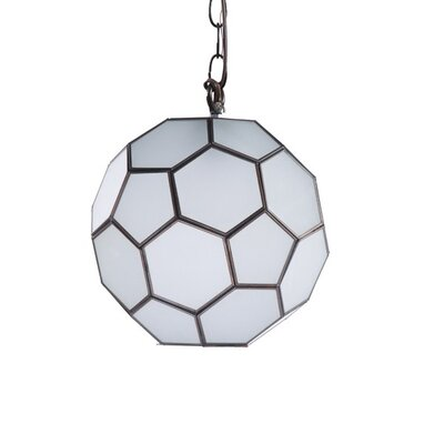 Faceted Ball 1-Light Globe Pendant Size: 9 H x 9 W x 9 D