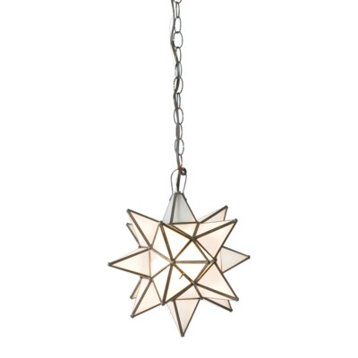 Star 1-Light Geometric Pendant Size: 12 H x 12 W x 12 D