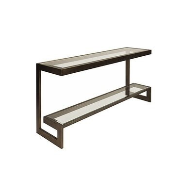2 Tier Low Console Table Finish: Bronze