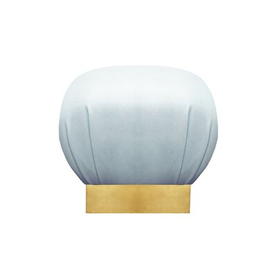 Ottoman Finish: Gold Leaf, Upholstery: Baby Blue