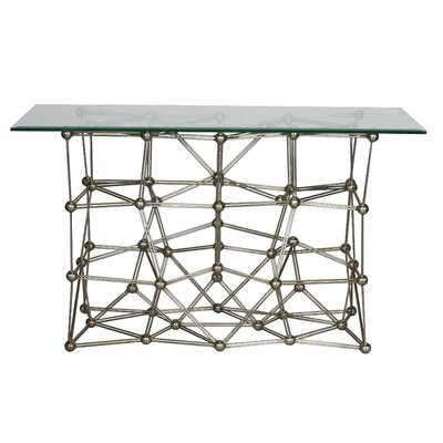 Iron Console Table Finish: Silver