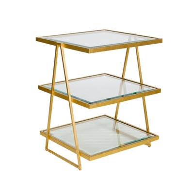 3 Tier End Table Finish: Gold Leaf